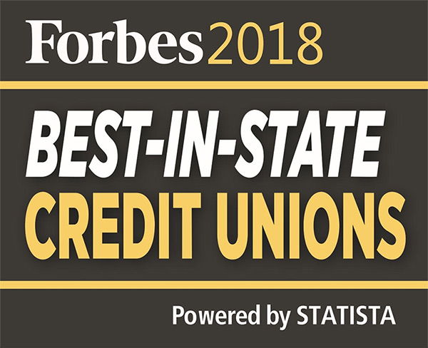 Forbes Best In-State Credit Unions badge